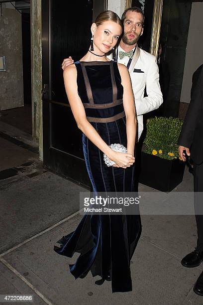 Model Behati Prinsloo attends the China Through The Looking Glass Costume Institute Benefit Gala after party at the Diamond Horseshoe at the...