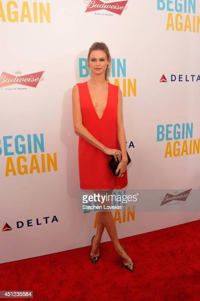 Model Behati Prinsloo attends the New York premiere of the Weinstein company's BEGIN AGAIN sponsored by Delta Airlines and Budweiser at SVA Theater...