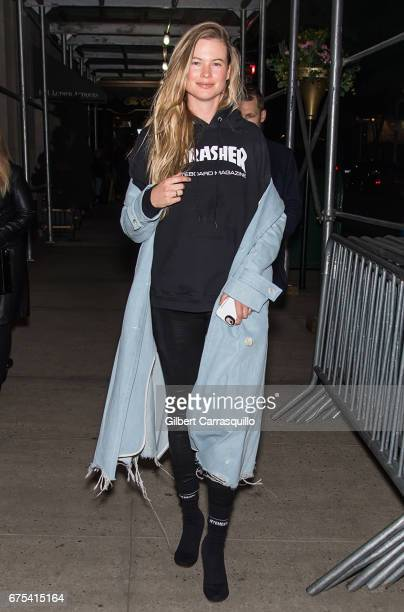 Model Behati Prinsloo is seen on the streets of Manhattan on April 30 2017 in New York City