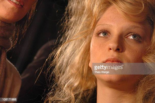 Model being styled by Gucci Westman for Lancome during Olympus Fashion Week Fall 2005 - Lancome at Diesel at Hammerstein Ballroom in New York City,...