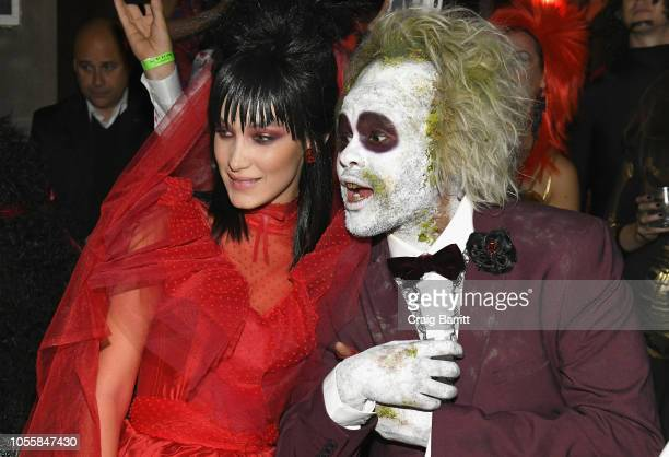 Model Bella Hadid and singer The Weeknd attend Heidi Klum's 19th Annual Halloween Party Sponsored by SVEDKA Vodka and Party City at Lavo NYC on...
