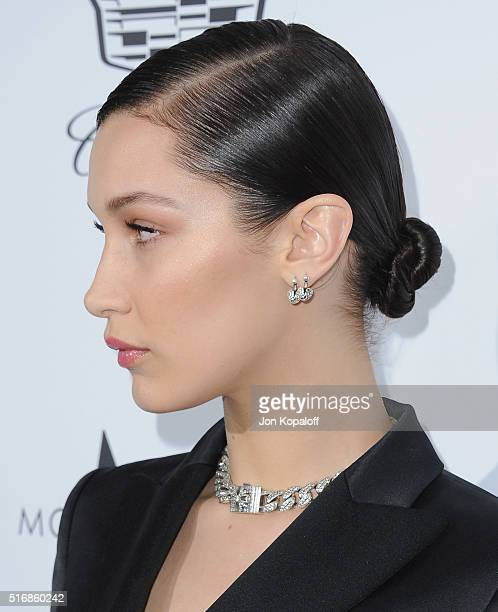 Model Bella Hadid arrives at The Daily Front Row Fashion Los Angeles Awards 2016 at Sunset Tower Hotel on March 20 2016 in West Hollywood California