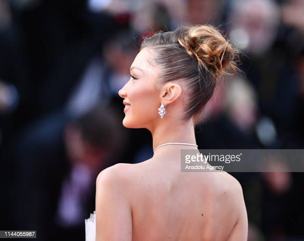 US model Bella Hadid arrives for the screening of the film 'Rocketman' during the 72nd annual Cannes Film Festival in Cannes France on May 16 2019