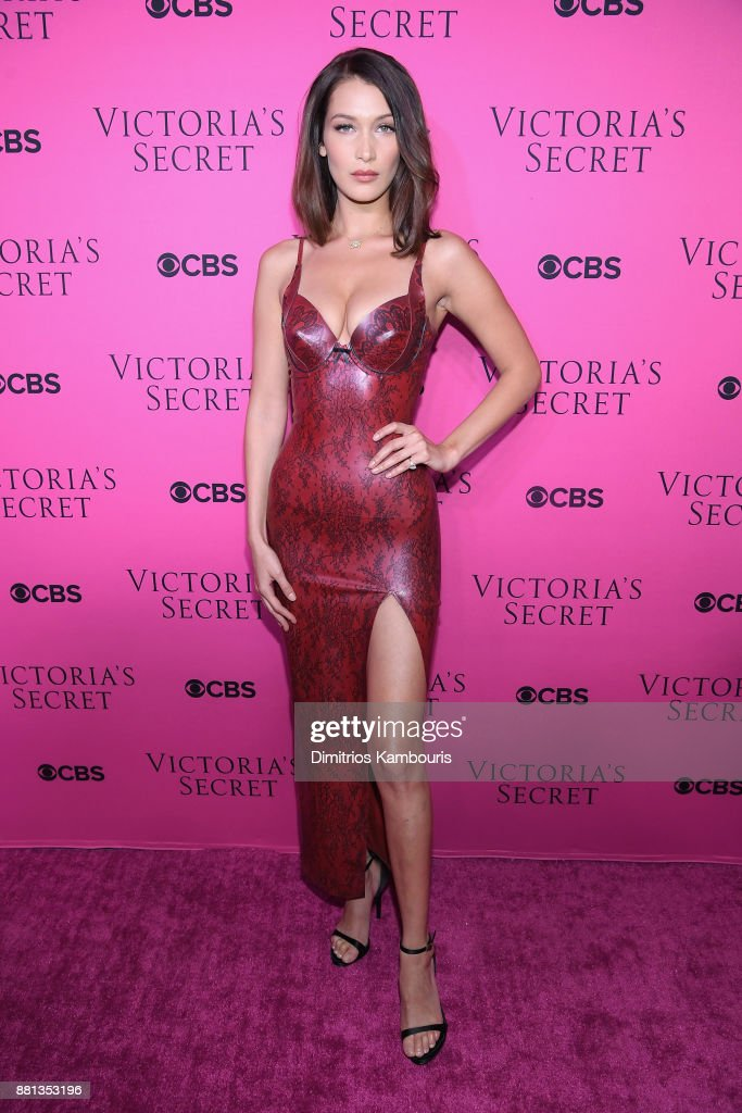 Model Bella Hadid attends as Victoria's Secret Angels gather for an intimate viewing party of the 2017 Victoria's Secret Fashion Show at Spring Studios on November 28, 2017 in New York City.