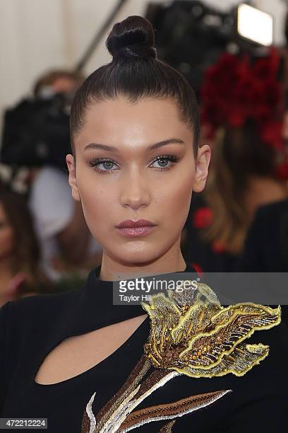 Model Bella Hadid attends China Through the Looking Glass the 2015 Costume Institute Gala at Metropolitan Museum of Art on May 4 2015 in New York City