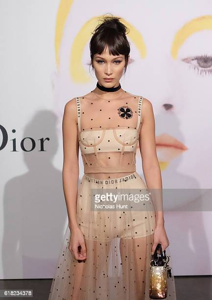 Model Bella Hadid attends Dior Beauty celebrates The Art of Color with Peter Philips on October 25 2016 in New York City