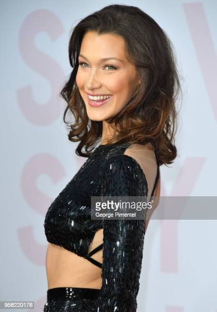 Model Bella Hadid attends Fashion For Relief Cannes 2018 during the 71st annual Cannes Film Festival at Aeroport Cannes Mandelieu on May 13, 2018 in...