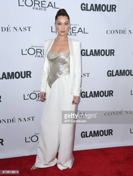 Model Bella Hadid attends Glamour's 2017 Women of The Year Awards at Kings Theatre on November 13 2017 in Brooklyn New York / AFP PHOTO / ANGELA WEISS
