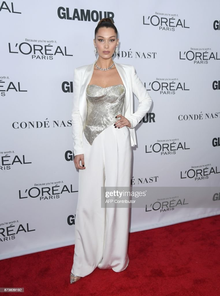 Model Bella Hadid attends Glamour's 2017 Women of The Year Awards at Kings Theatre on November 13, 2017 in Brooklyn, New York. /