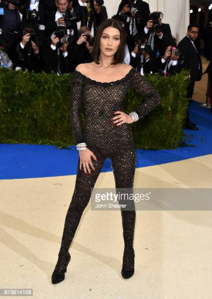 Model Bella Hadid attends 'Rei Kawakubo/Comme des Garcons Art Of The InBetween' Costume Institute Gala at Metropolitan Museum of Art on May 1 2017 in...