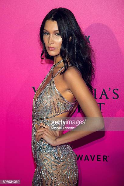 Model Bella Hadid attends the 2016 Victoria's Secret Fashion Show after party at Le Grand Palais on November 30 2016 in Paris France