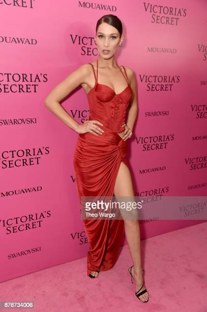 Model Bella Hadid attends the 2017 Victoria's Secret Fashion Show In Shanghai After Party at MercedesBenz Arena on November 20 2017 in Shanghai China