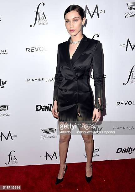 """Model Bella Hadid attends the Daily Front Row """"Fashion Los Angeles Awards"""" at Sunset Tower Hotel on March 20, 2016 in West Hollywood, California."""