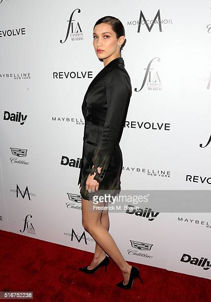 Model Bella Hadid attends the Daily Front Row Fashion Los Angeles Awards at Sunset Tower Hotel on March 20 2016 in West Hollywood California