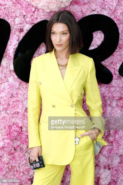 Model Bella Hadid attends the Dior Homme Menswear Spring/Summer 2019 show as part of Paris Fashion Week on June 23 2018 in Paris France