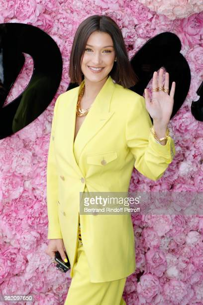 Model Bella Hadid attends the Dior Homme Menswear Spring/Summer 2019 show as part of Paris Fashion Week on June 23, 2018 in Paris, France.