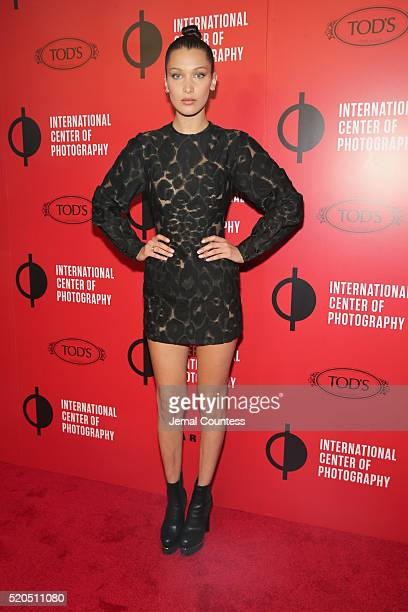 Model Bella Hadid attends the International Center Of Photography's 2016 Infinity awards honoring outstanding achievements in photography and visual...