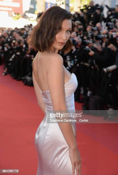 Model Bella Hadid attends the Ismael's Ghosts screening and Opening Gala during the 70th annual Cannes Film Festival at Palais des Festivals on May...