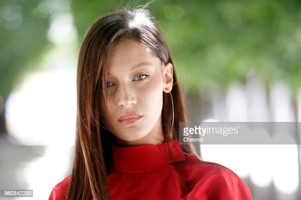 US model Bella Hadid attends the Louis Vuitton Menswear Spring/Summer 2019 show as part of Paris Fashion Week on June 21 2018 in Paris France
