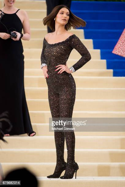 Model Bella Hadid attends the 'Rei Kawakubo/Comme des Garcons Art Of The InBetween' Costume Institute Gala at Metropolitan Museum of Art on May 1...