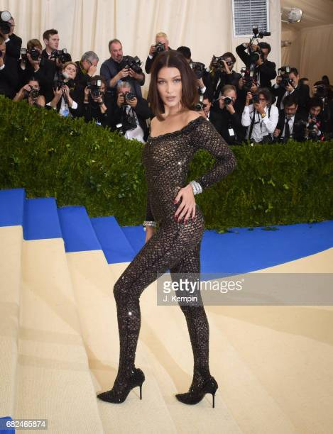 Model Bella Hadid attends the 'Rei Kawakubo/Comme des Garcons Art Of The InBetween' Costume Institute Gala at Metropolitan Museum of Art on May 1...