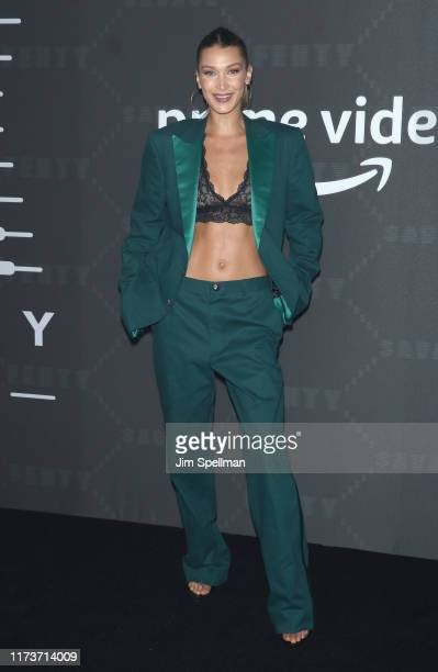 Model Bella Hadid attends the Savage x Fenty arrivals during New York Fashion Week at Barclays Center on September 10, 2019 in New York City.