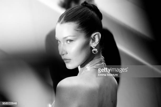 Model Bella Hadid attends the screening of BlacKkKlansman during the 71st annual Cannes Film Festival at Palais des Festivals on May 14 2018 in...