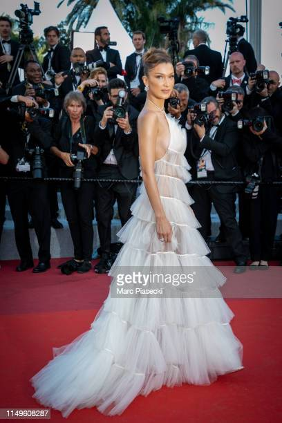 "Model Bella Hadid attends the screening of ""Rocketman"" during the 72nd annual Cannes Film Festival on May 16, 2019 in Cannes, France."