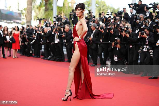 Model Bella Hadid attends 'The Unknown Girl ' Premiere duirng the annual 69th Cannes Film Festival at Palais des Festivals on May 18 2016 in Cannes...