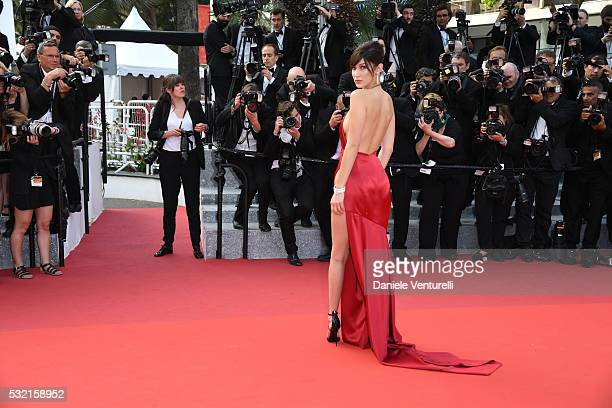 Model Bella Hadid attends 'The Unknown Girl ' Premiere duirng the annual 69th Cannes Film Festival at Palais des Festivals on May 18, 2016 in Cannes,...