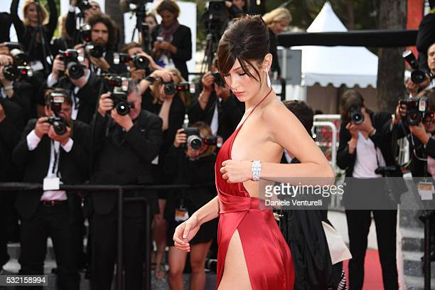 Model Bella Hadid attends 'The Unknown Girl ' Premiere duirng the annual 69th Cannes Film Festival at Palais des Festivals on May 18 2016 in Cannes