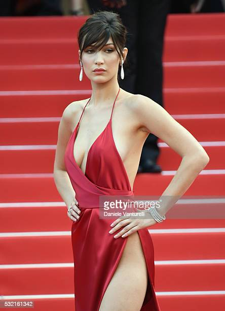 Model Bella Hadid attends 'The Unknown Girl ' Premiere during the 69th annual Cannes Film Festival at the Palais des Festivals on May 18 2016 in...