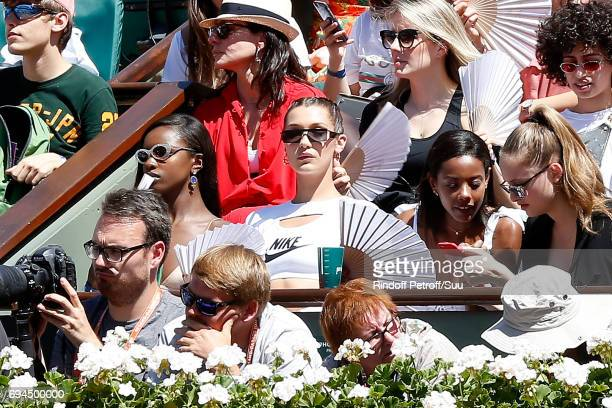 Model Bella Hadid attends the Women Final of the 2017 French Tennis Open - Day Fourteen at Roland Garros on June 10, 2017 in Paris, France.