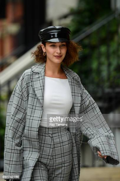 Model Bella Hadid enters a Noho apartment on June 06 2017 in New York City