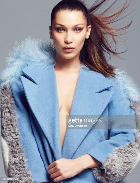 Model Bella Hadid is photographed for Elle Brazil on December 11 2015 in New York City Published Image