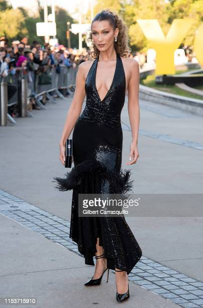 Model Bella Hadid is seen arriving to the 2019 CFDA Fashion Awards on June 3 2019 in the Brooklyn borough of New York City