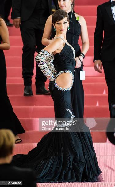 Model Bella Hadid is seen arriving to the 2019 Met Gala Celebrating Camp: Notes on Fashion at The Metropolitan Museum of Art on May 6, 2019 in New...