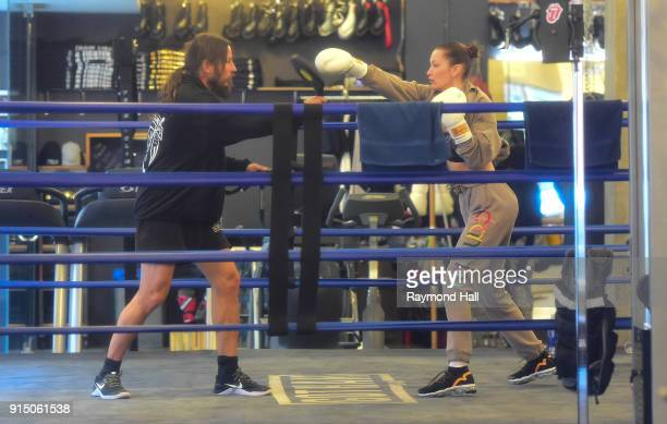 Model Bella Hadid is seen at Gotham Boxing GYM on February 6 2018 in New York City