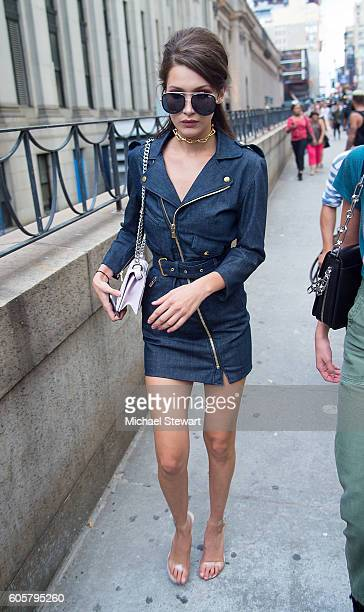 Model Bella Hadid is seen is Midtown on September 14 2016 in New York City
