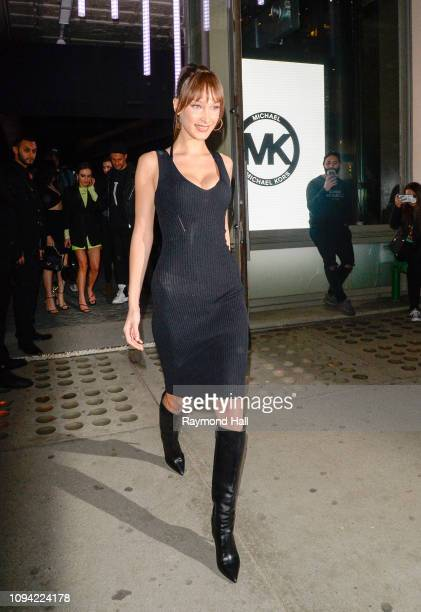 Model Bella Hadid is seen leaving Michael Kuss show in soho on February 5 2019 in New York City