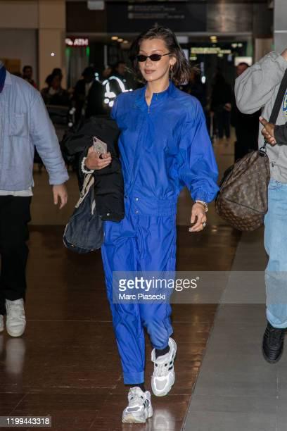 Model Bella Hadid is seen on January 14 2020 in Paris France