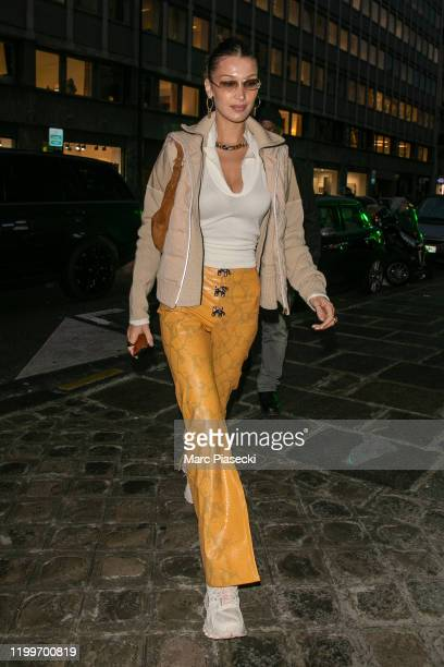 Model Bella Hadid is seen on January 15, 2020 in Paris, France.