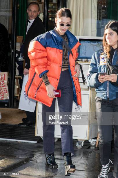 Model Bella Hadid is seen on January 19 2018 in Paris France