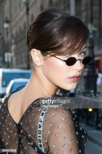 Model Bella Hadid is seen on July 3 2017 in Paris France