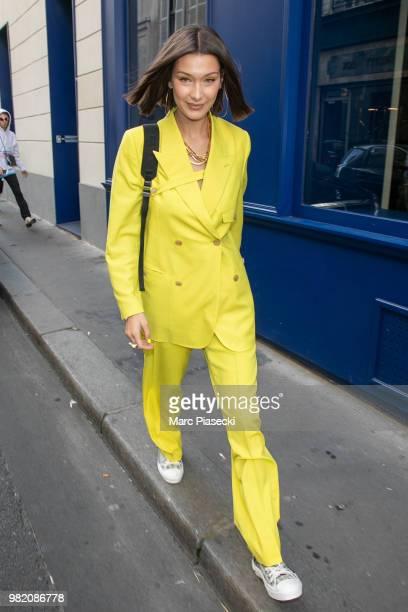 Model Bella Hadid is seen on June 23 2018 in Paris France