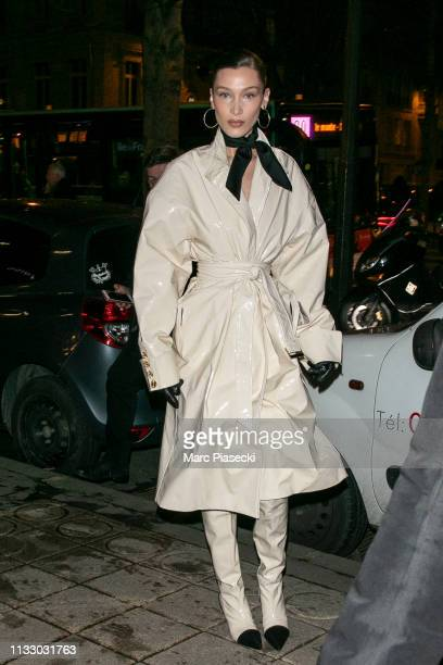 Model Bella Hadid is seen on March 01 2019 in Paris France