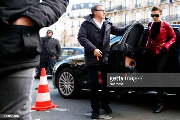 Model Bella Hadid is seen on March 3 2018 in Paris France