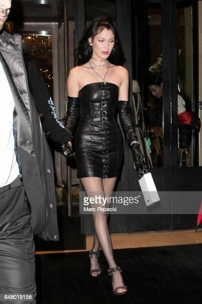 Model Bella Hadid is seen on March 4 2017 in Paris France