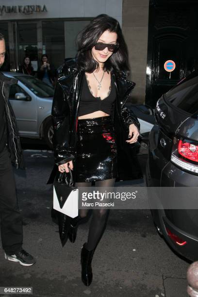 Model Bella Hadid is seen on March 5 2017 in Paris France