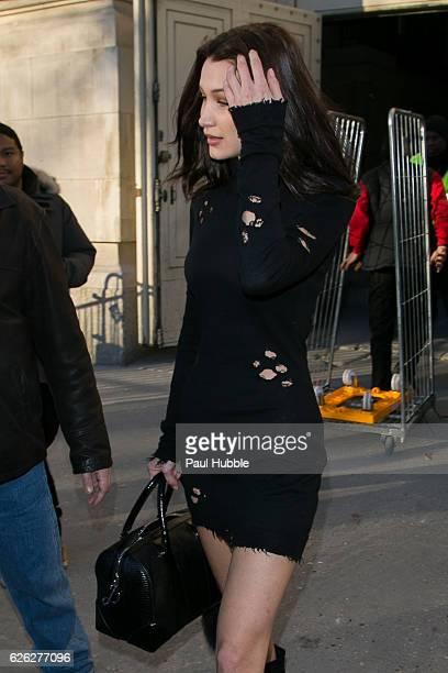 Model Bella Hadid is seen on November 28 2016 in Paris France